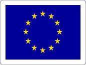 bandiera dell'Europa con cerchio di stelle su fondo blu